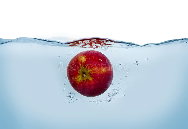 Download Apple in the water stock photo. Image of backdrop, smooth - 12968448