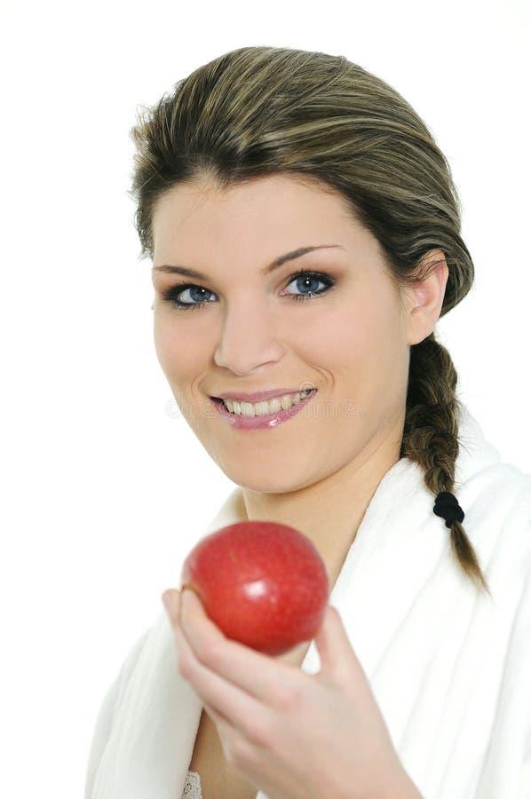 Apple Woman Royalty Free Stock Photo