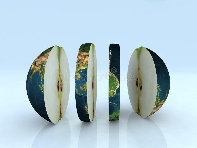 Apple world vector illustration