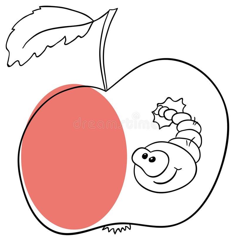 Apple worm stock illustration
