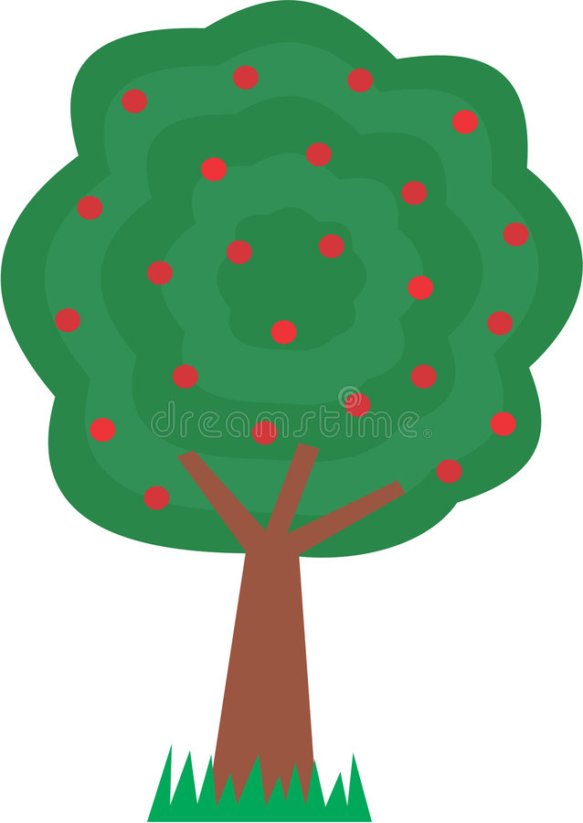 apple wycinek ścieżki drzewo ilustracji
