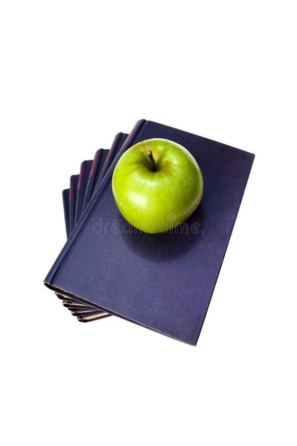 Apple y libros fotos de archivo