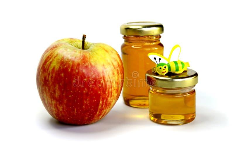 Apple y miel imagenes de archivo
