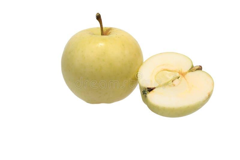 Apple y mitad de la manzana imágenes de archivo libres de regalías