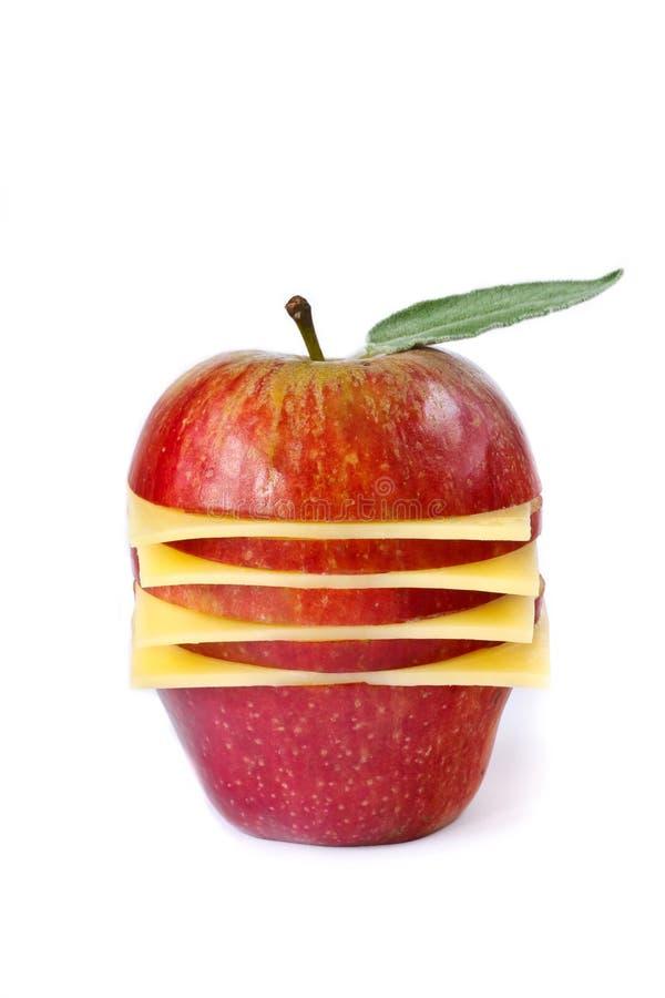 Apple y queso para un desayuno. imagenes de archivo