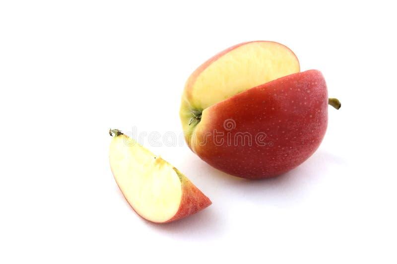 Apple Y Rebanada Fotografía de archivo