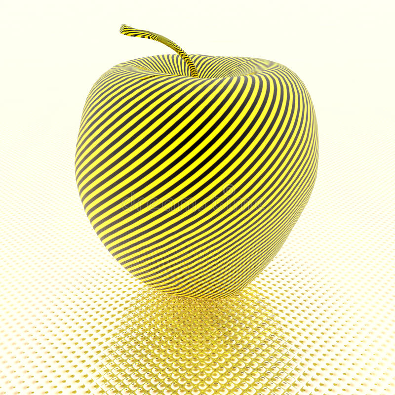 Download Apple With Yellow Stripe Texture Stock Illustration - Image: 11687967