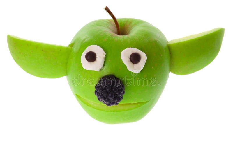 Apple - Yoda στοκ φωτογραφία