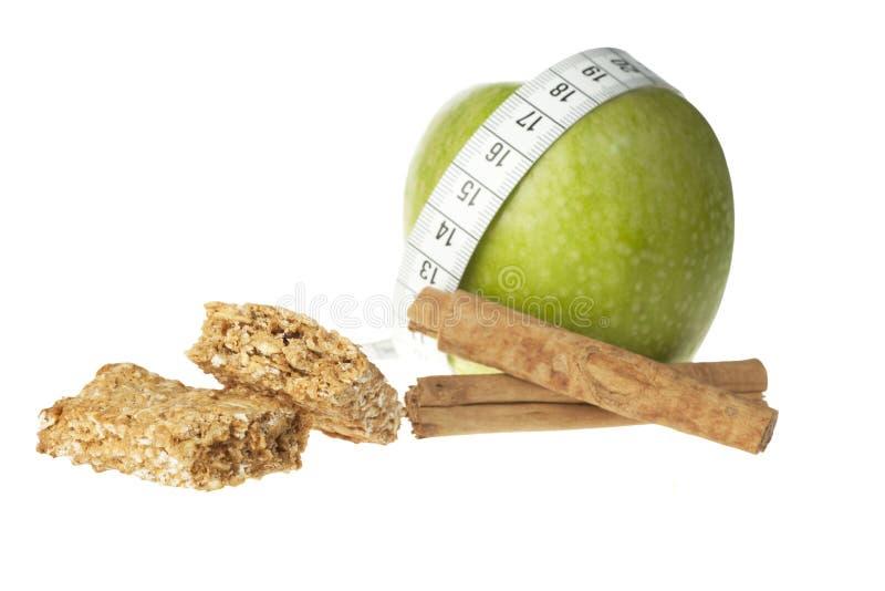 Apple-Zimt-Diät-Stab lizenzfreies stockfoto