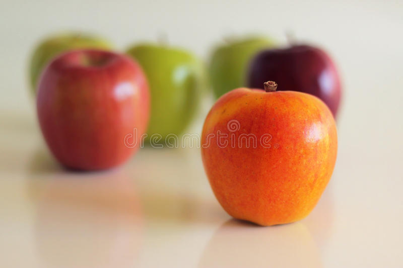 Download Apples stock image. Image of yellow, individuality, dark - 20047667