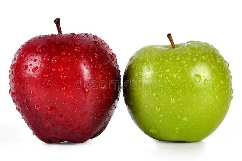 Apples. Red and green apples with background