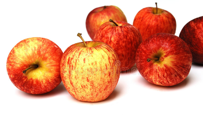 Apples. Are an important ingredient in many winter desserts, for example apple pie, apple crumble, apple crisp and apple cake. They are often eaten baked or stock image