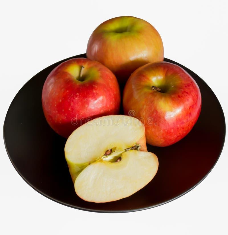 Apples On The Blackdish Stock Image