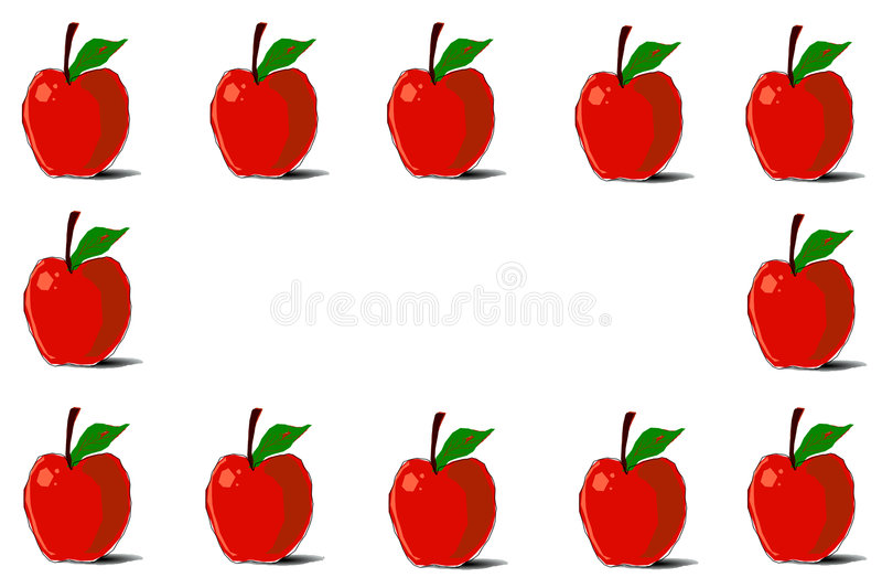 Apples Border Background stock illustration. Illustration ...
