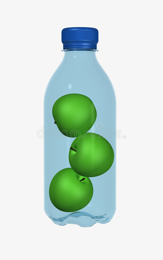 Apples in bottle royalty free stock photos