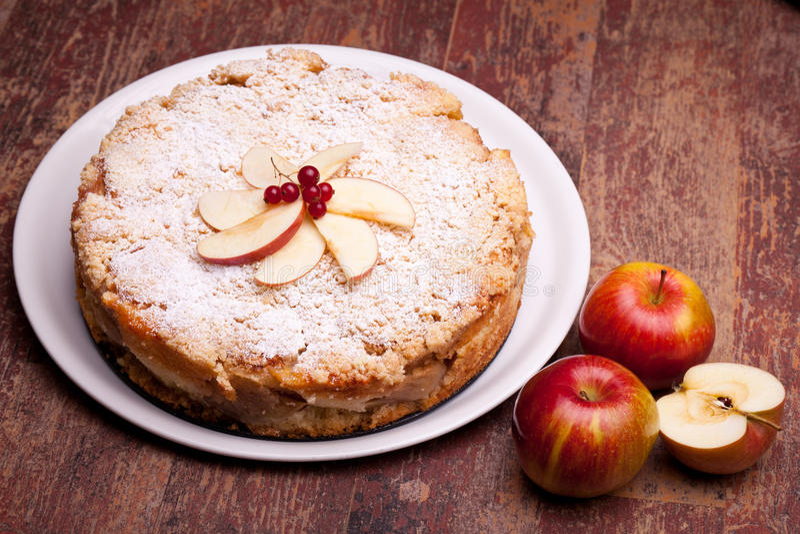 Apples Cake Royalty Free Stock Photo