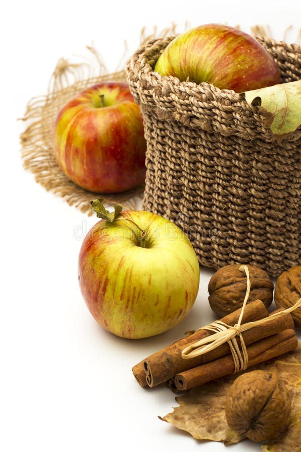 Download Apples and cinnamon sticks stock photo. Image of vertical - 27041034