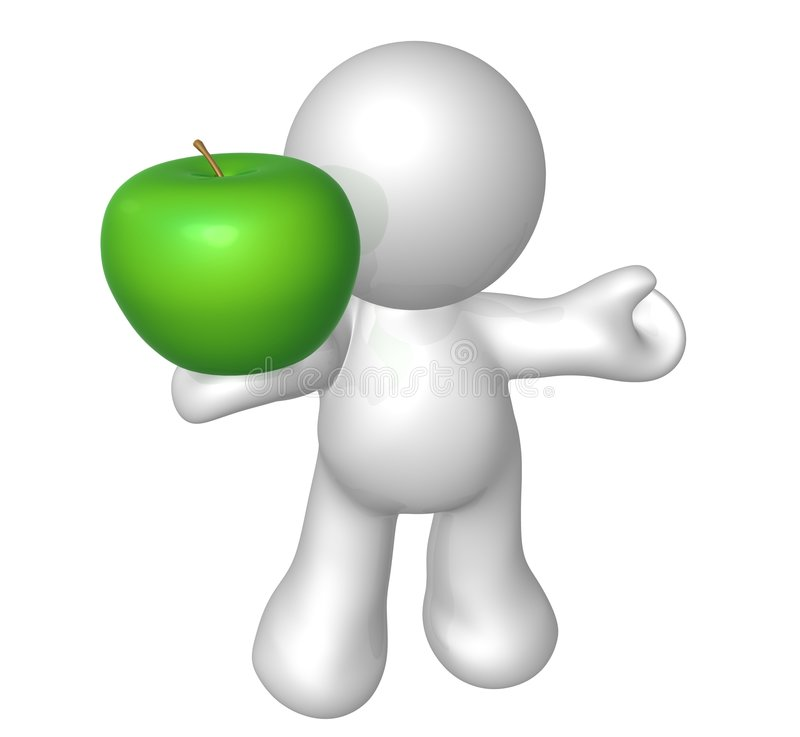 Download Apples for diet food stock illustration. Image of isolated - 8536060