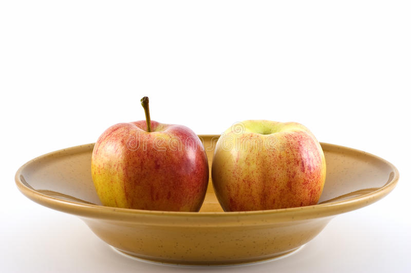 Apples In Dish Stock Image