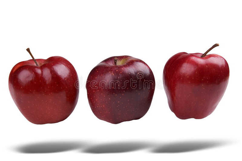 Apples floating royalty free stock photo