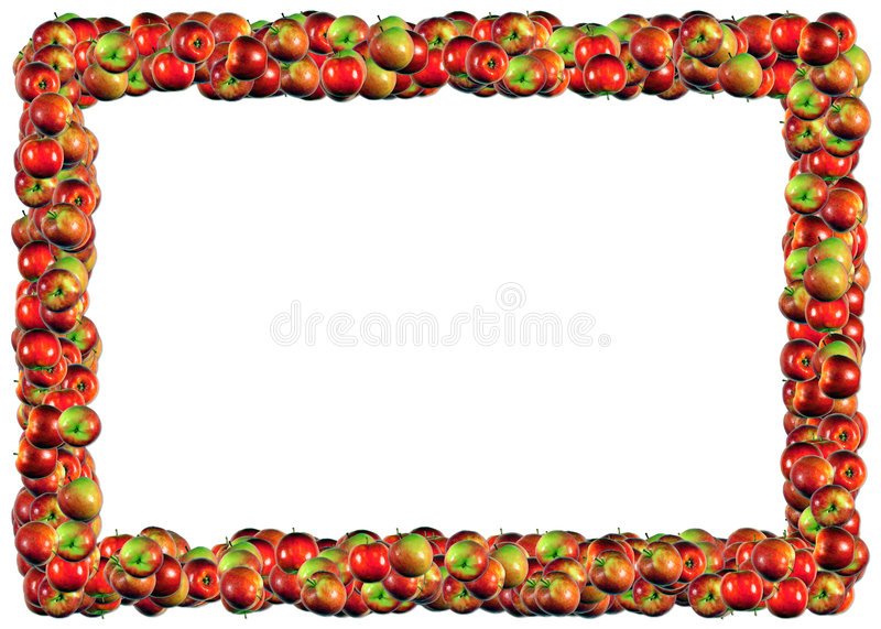 Apples Frame. From The Food frames series royalty free illustration
