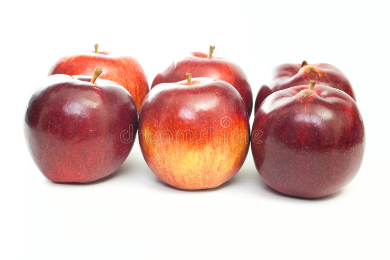 Apples group stock images