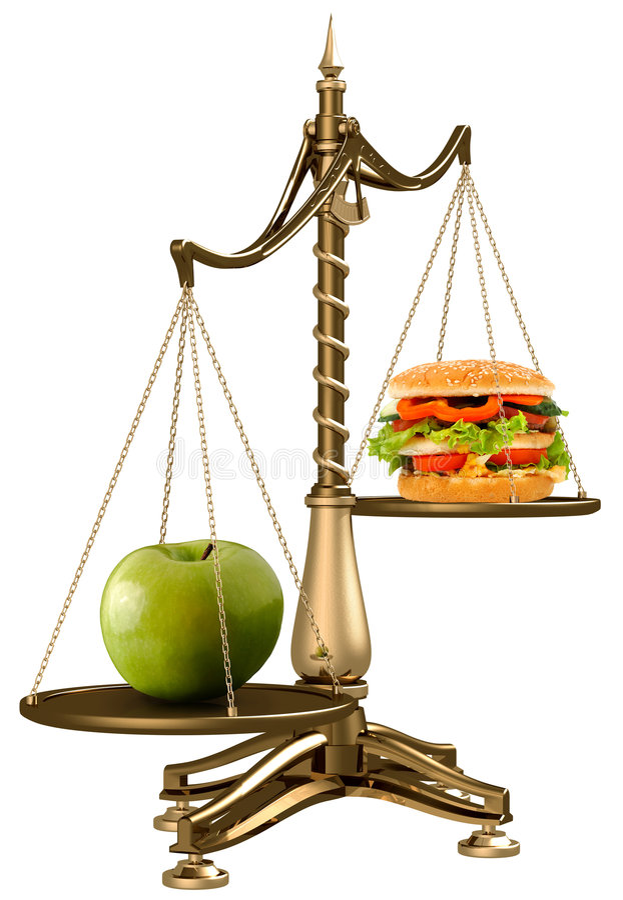 Apples instead of hamburgers royalty free stock photos