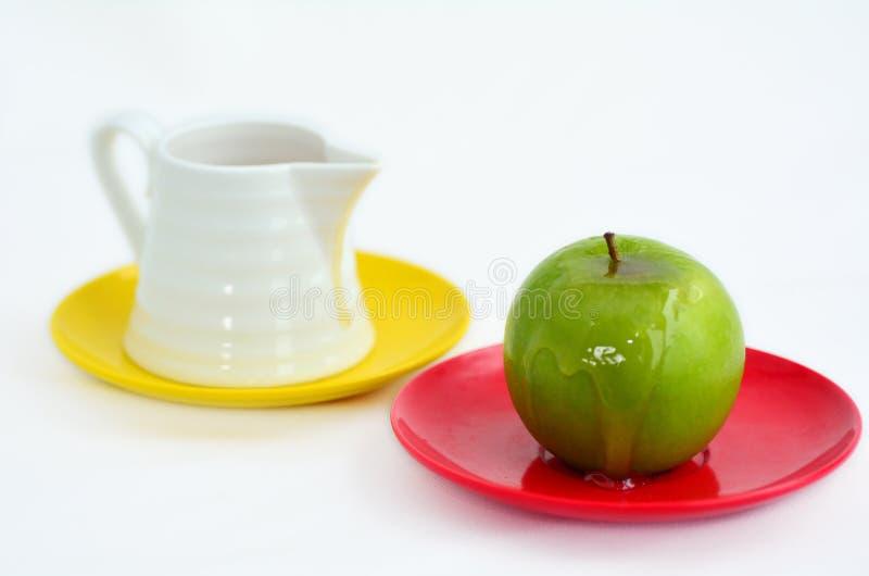 Apples and Honey - Rosh Hashanah Jewish holiday stock photography