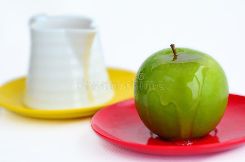 Apples and Honey - Rosh Hashanah Jewish holiday royalty free stock images