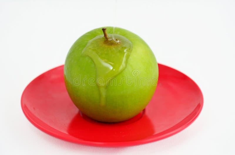 Apples and Honey - Rosh Hashanah Jewish holiday royalty free stock photo