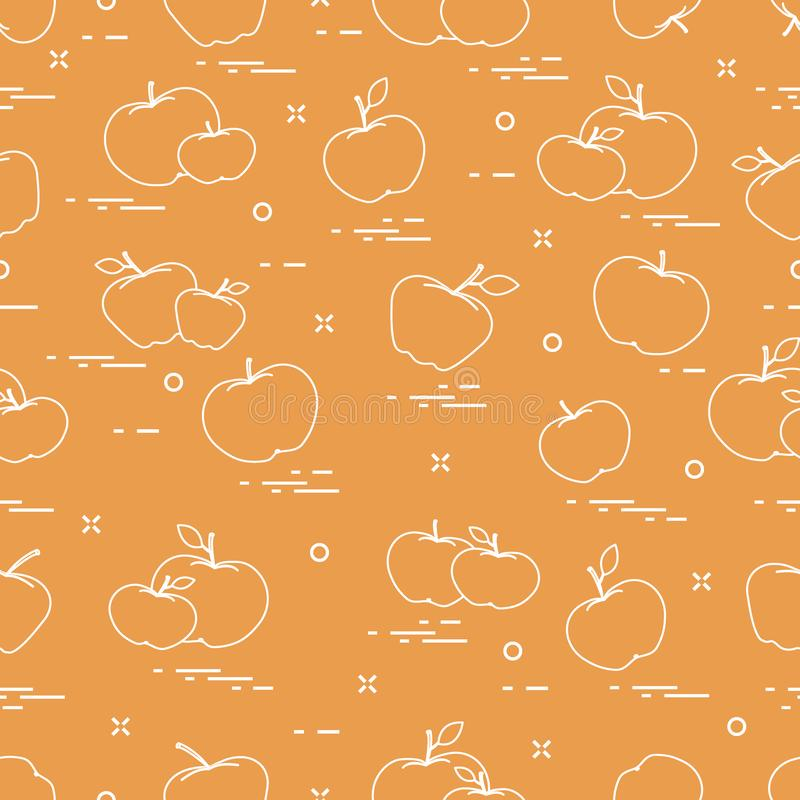 Apples juicy fruit. Seamless pattern royalty free illustration