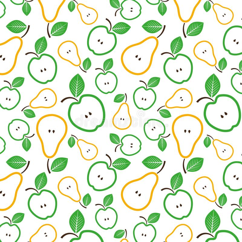 Apples and pears seamless pattern. Vector Illustration. Apples and pears seamless vector pattern. Vector Illustration. Fruits backdround vector illustration
