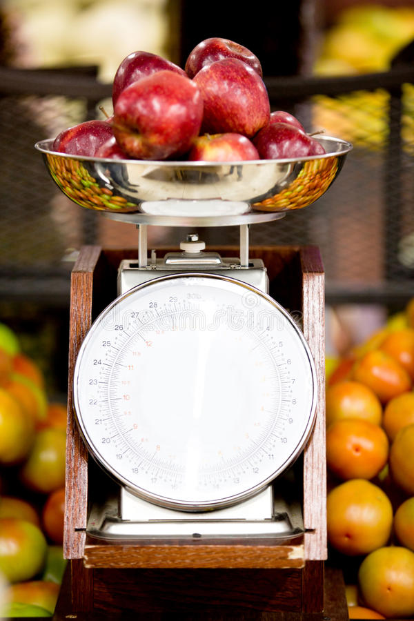 Download Apples on a scale stock photo. Image of store, value - 28051702
