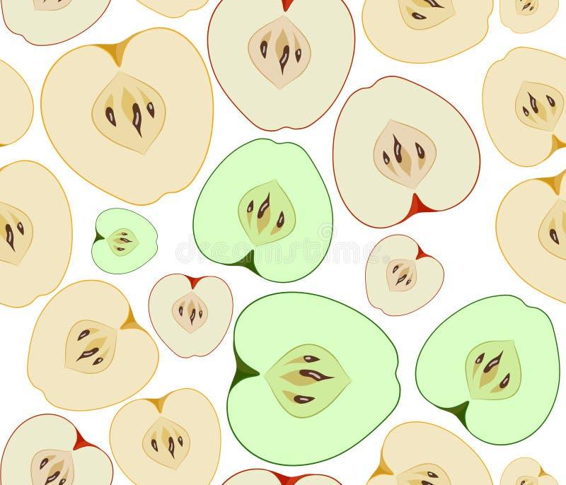 Apples seamless background stock illustration