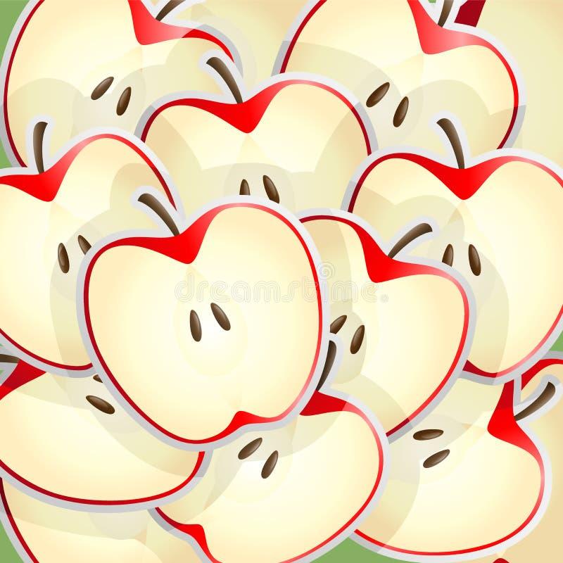 Apples slices pattern