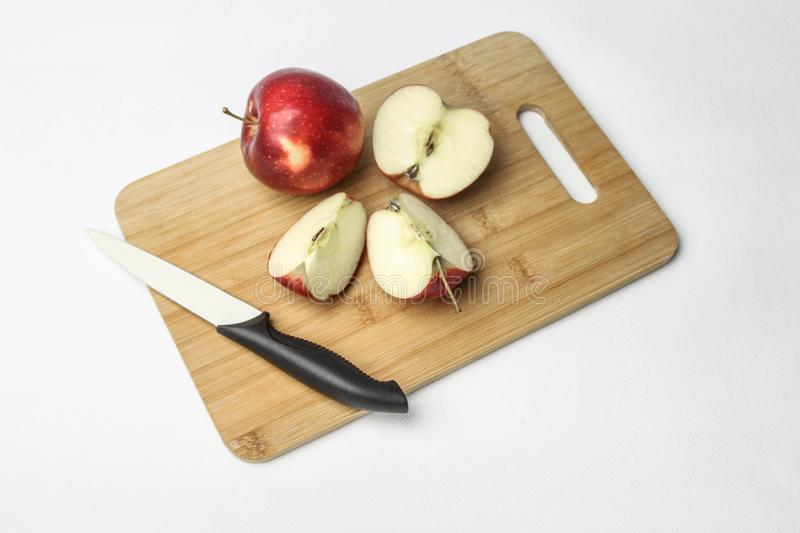 Apples on a white background stock image