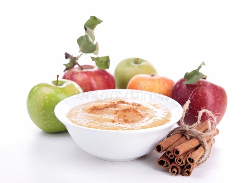 Applesauce som isoleras på white royaltyfri foto