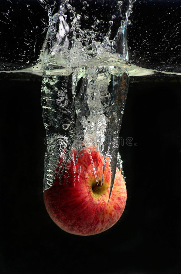 Applesplash stockbilder