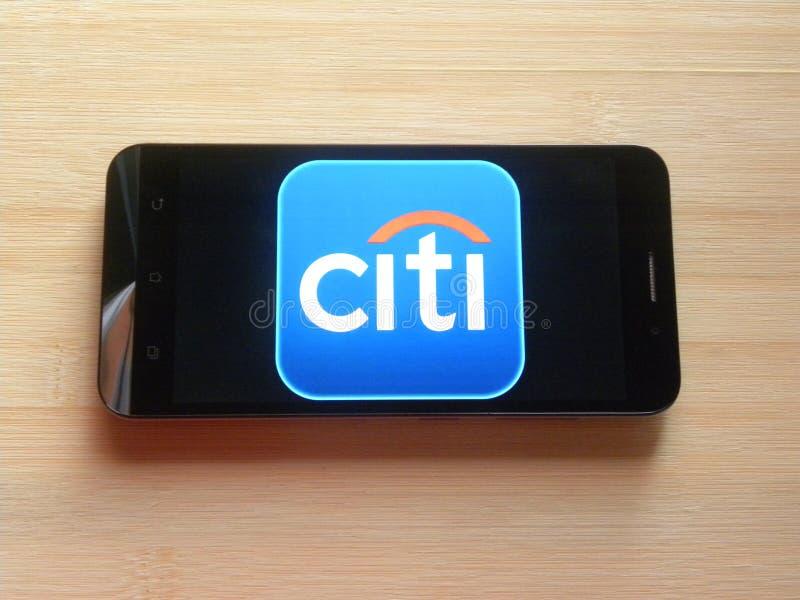 Appli de Citibank photo stock