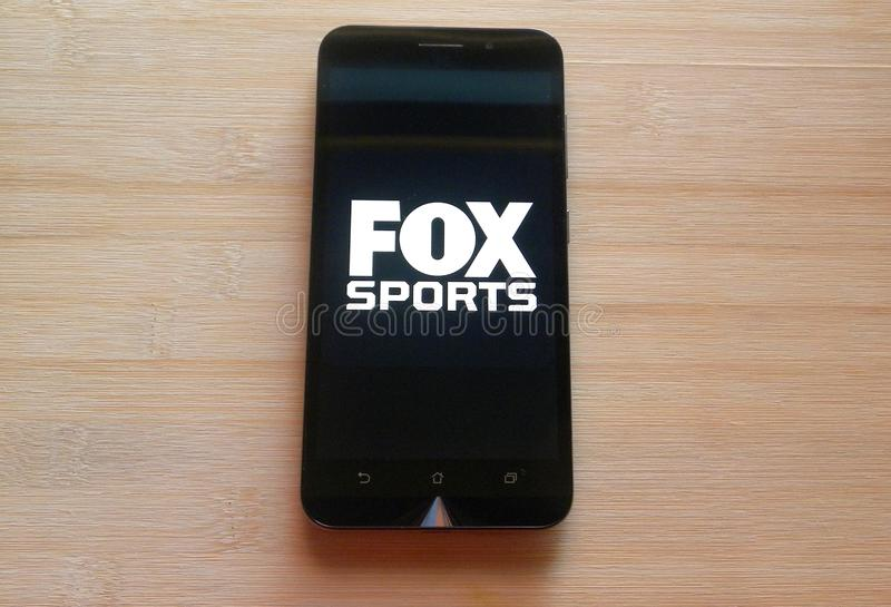 Appli de Fox Sports photographie stock libre de droits