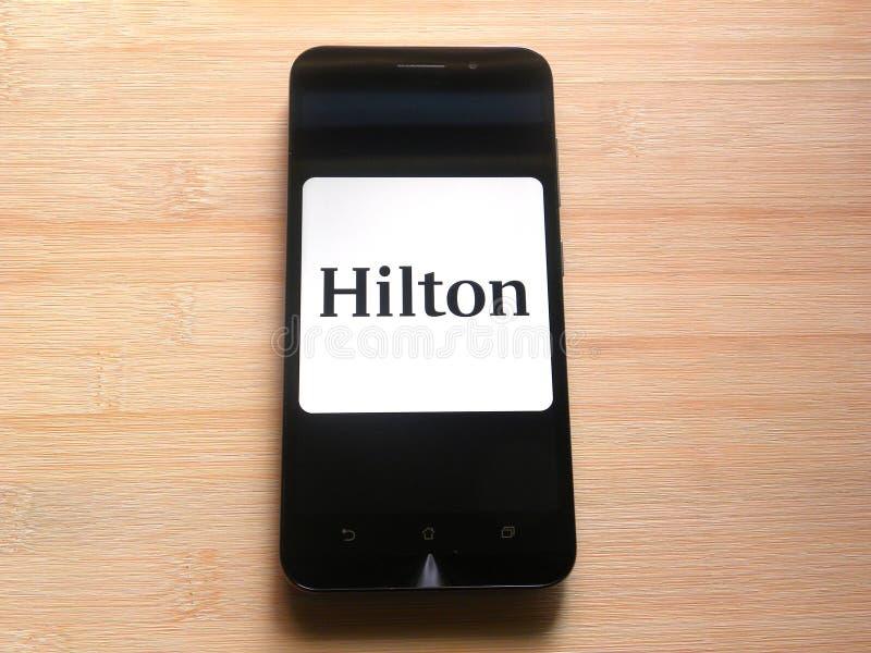 Appli de Hilton Honors image libre de droits