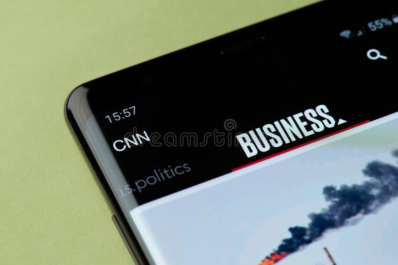 Appli de nouvelles de CNN image libre de droits