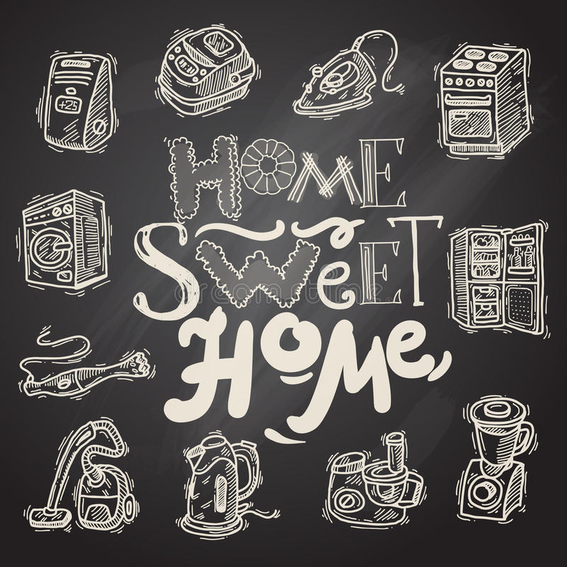 Appliahces à la maison illustration stock