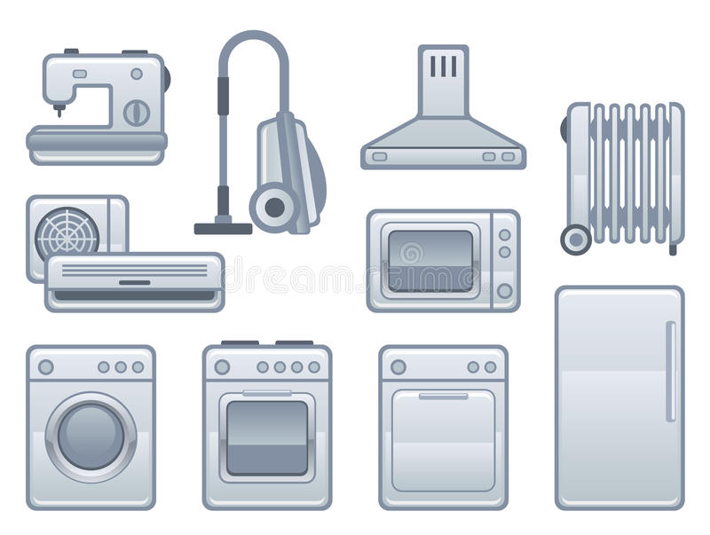 Download Appliance stock vector. Image of isolated, laundry, electronic - 16912279