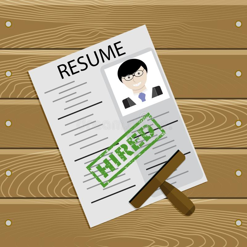 Applicant hired vector stock illustration