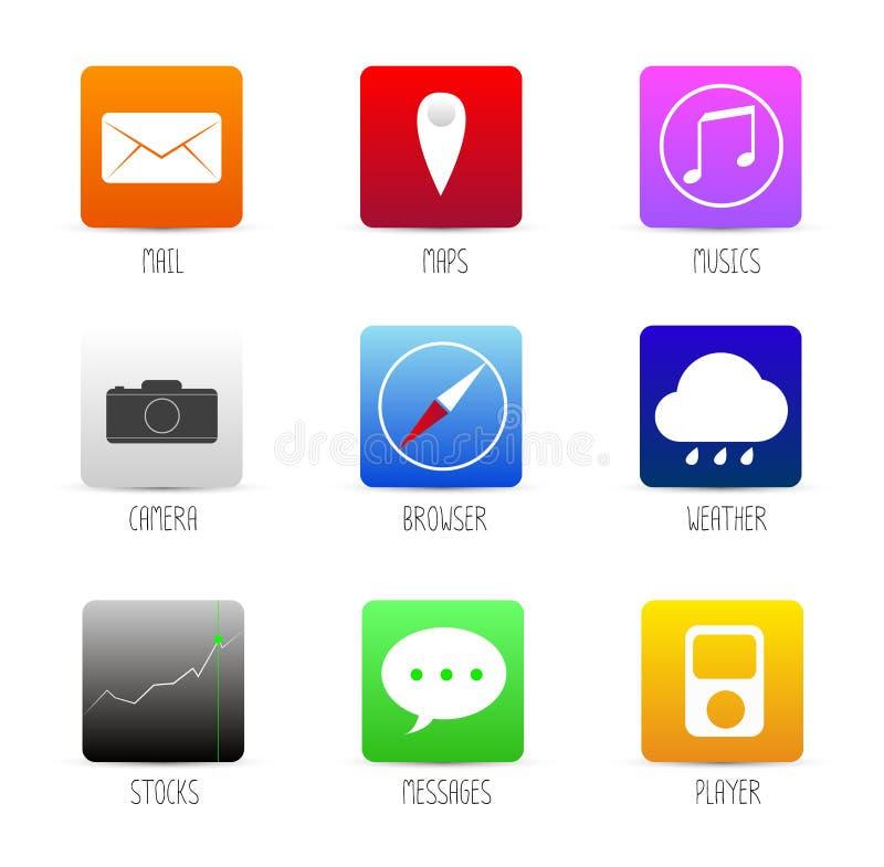 Application app smartphone icon. royalty free illustration