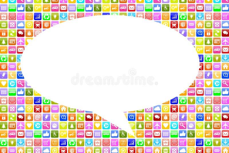 Application Apps App social media network on mobile or smart phone stock illustration