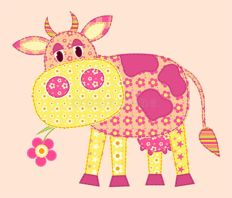 Application cow. royalty free illustration