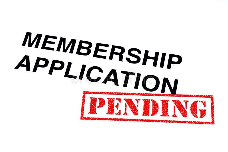 Application d'adhésion en suspens illustration de vecteur