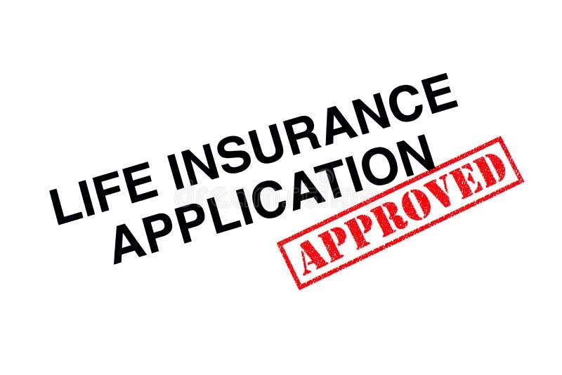 Application d'assurance-vie photo libre de droits